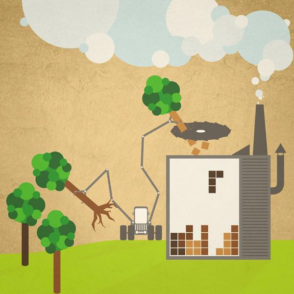 Tetris-Forstwirtschaft